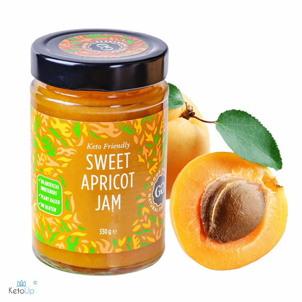 Good Good Apricot Jam 330g (2,42 € / 100g) for the keto diet and ketogenic diet