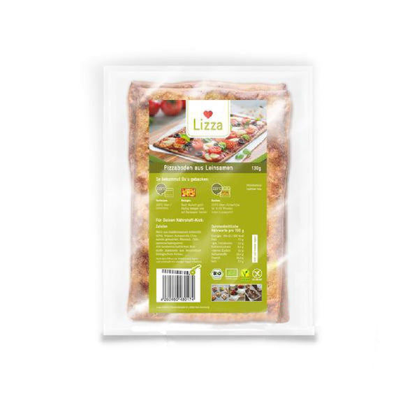 Lizza pizza base made from linseed <span> 130g (3,06 € / 100g) </span> - KetoUp online shop