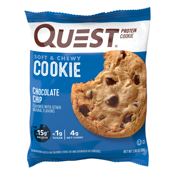Quest Protein Cookie Chocolate Chip 50g (8,58 € / 100g)