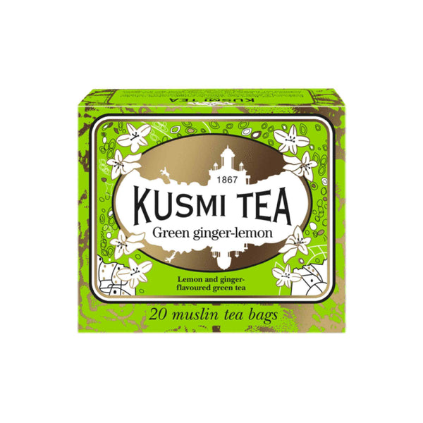 Kusmi tea green tea ginger-lemon 20 bags 44g (22,70 € / 100g) - KetoUp online shop