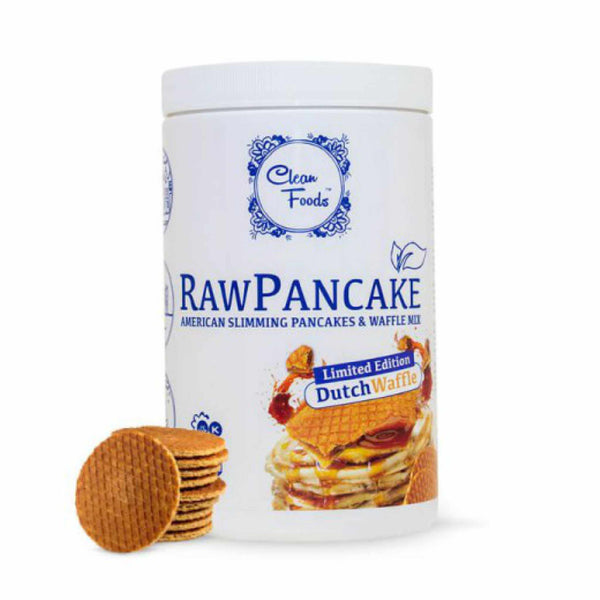 Clean Foods Raw Pancake Dutch Waffle 425g 425g (4,69 € / 100g) - KetoUp Onlineshop