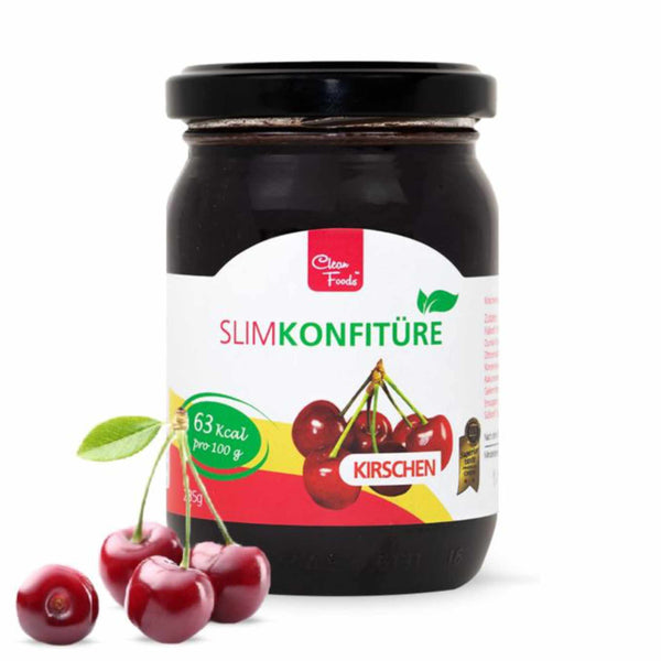 Clean Foods Slim Jam Cherries <span> 235g (2,55 € / 100g) </span> - KetoUp online shop