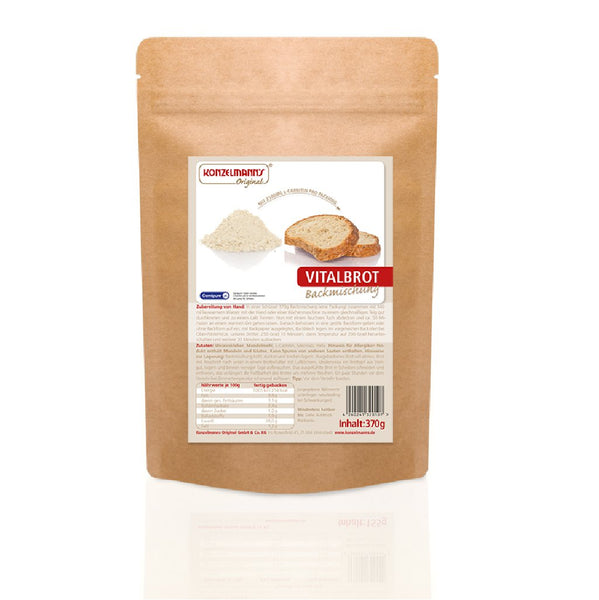 Konzelmann's Low Carb Bread Vital Bread Mixture with L-Carnitine <span> 370g (2,03 € / 100g) </span> - Boutique en ligne KetoUp