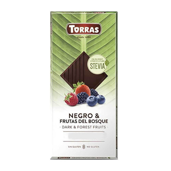 Torras Stevia Chocolate Dark Chocolate with Forest Fruits 125g (2,79 € / 100g)