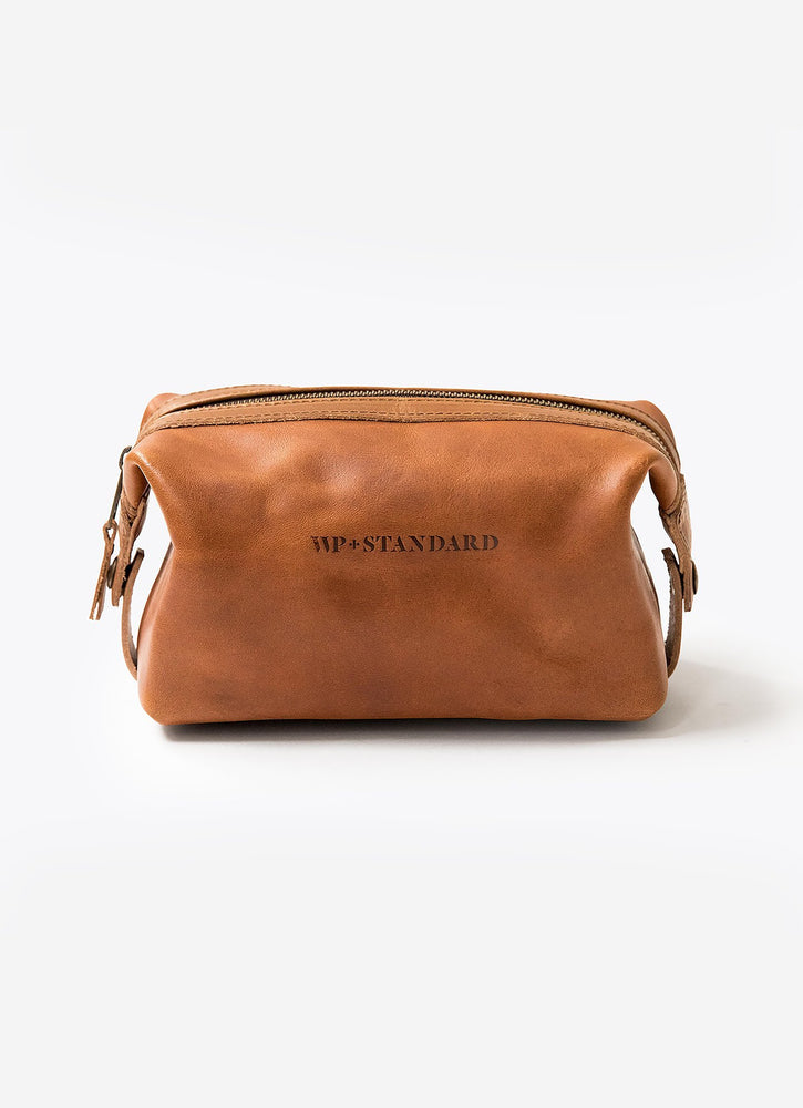 Leather Dopp Kit, Tan