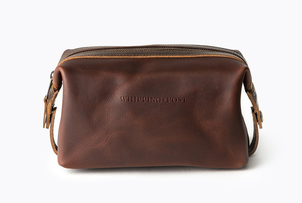 Leather Dopp Kit, Brown