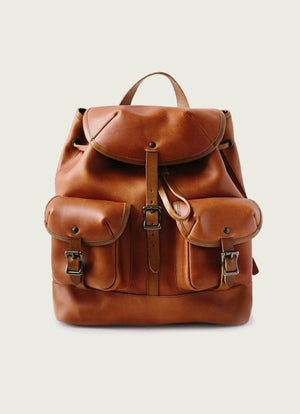 Leather Rucksack in Tan