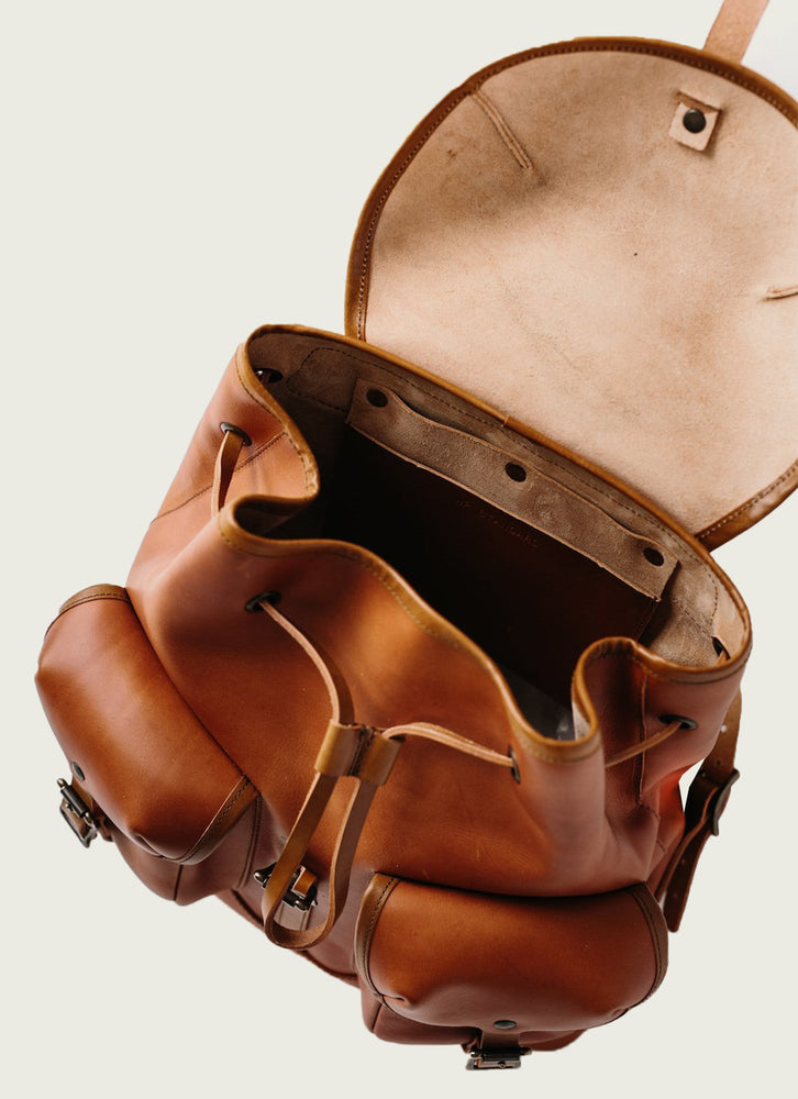 Leather Rucksack Interior