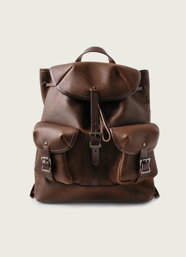 Leather Rucksack Backpack