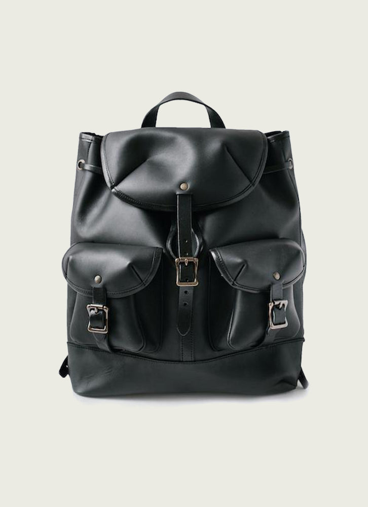 Leather Rucksack in Black