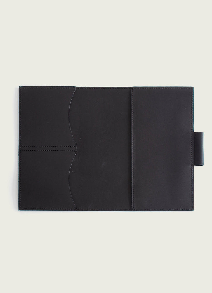 leather moleskine cover, Black