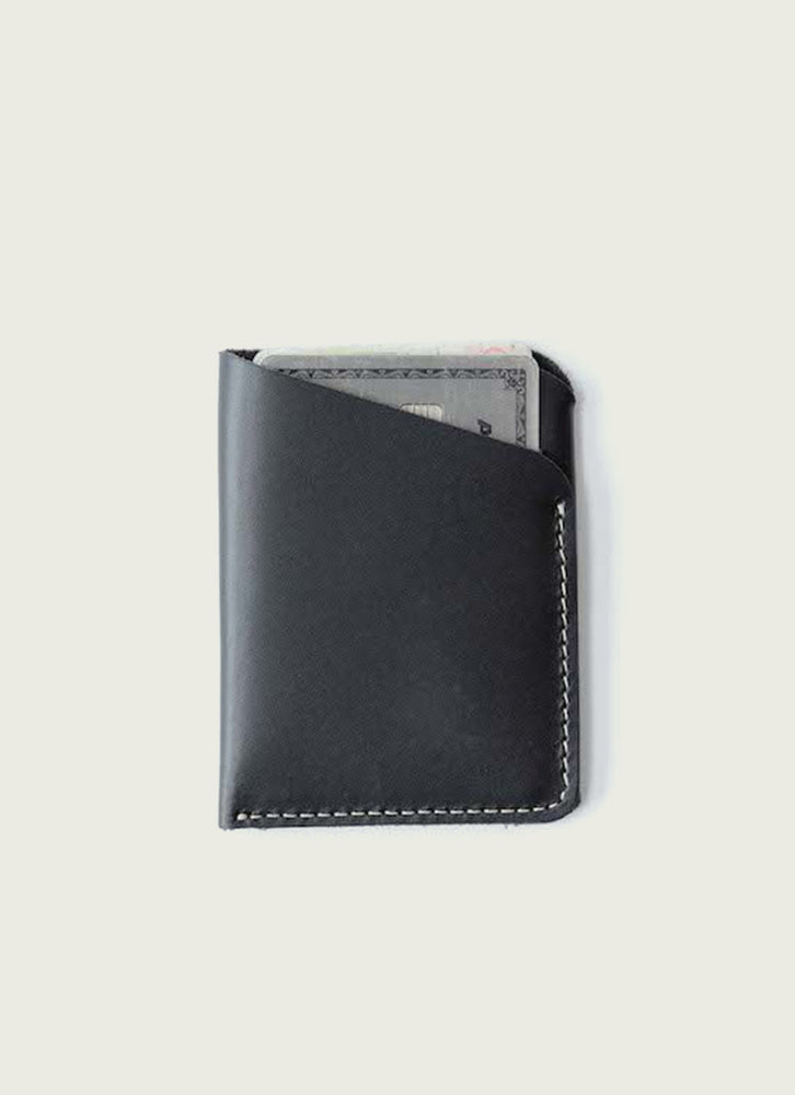 slim wallet in black