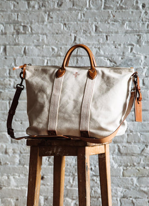 Canvas Travel Tote, Natural