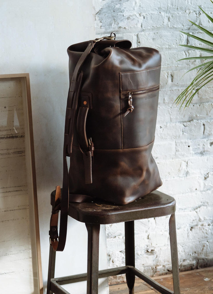 Leather Military Duffle Bag
