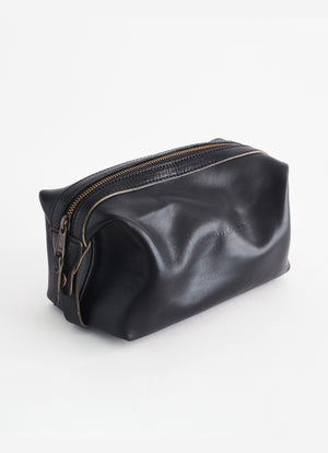 Leather Dopp Kit, Black