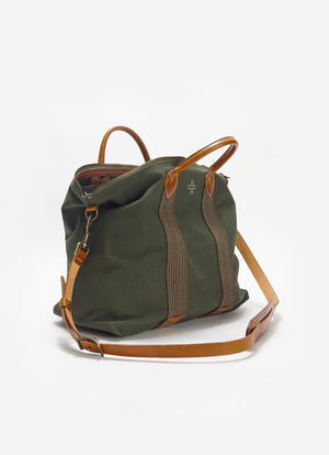 Canvas Travel Tote, Green