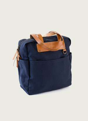 Blue Canvas shoulder tote
