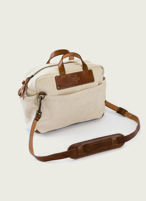 Natural Canvas Briefcase