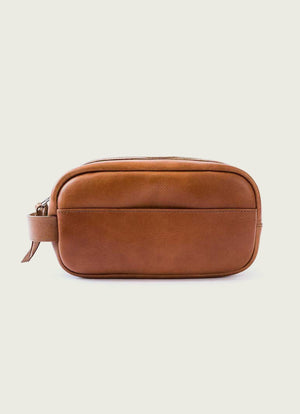 Tan Leather Dopp Kit