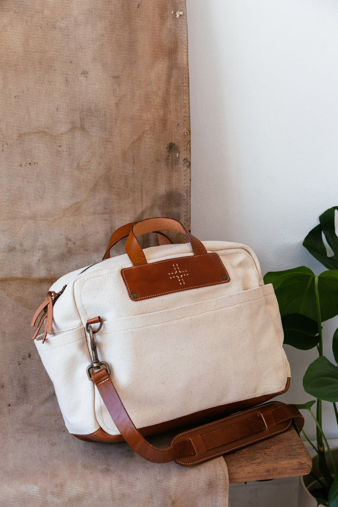 Canvas Briefcase, Natural