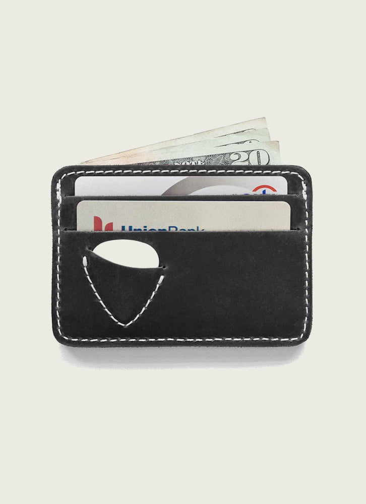 Guitar pick wallet in black