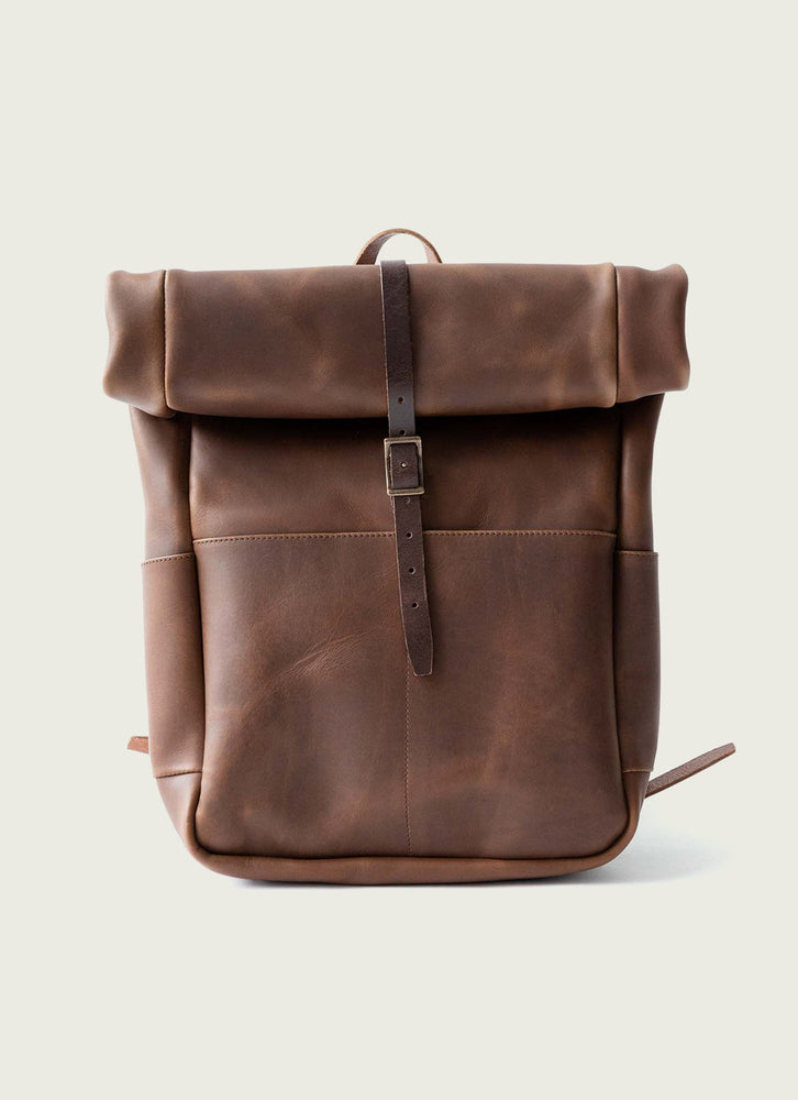 Brow Roll Top Backpack