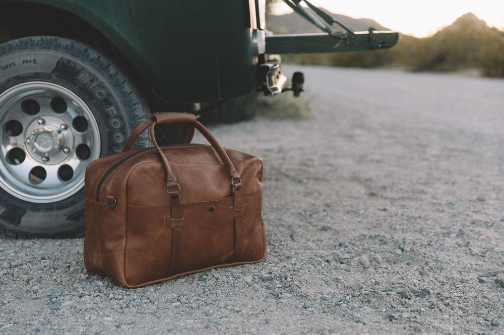 Boxcar Large Leather Duffle Bag