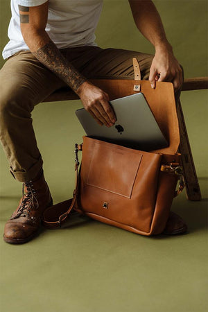 Vintage Messenger Bag with laptop