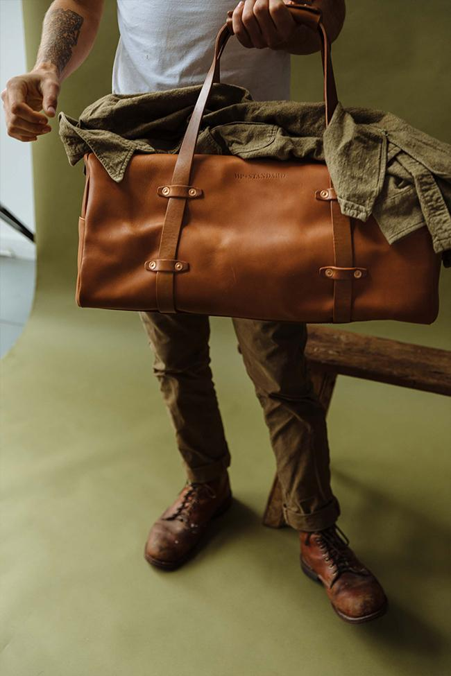 Tan Leather Weekender Bag