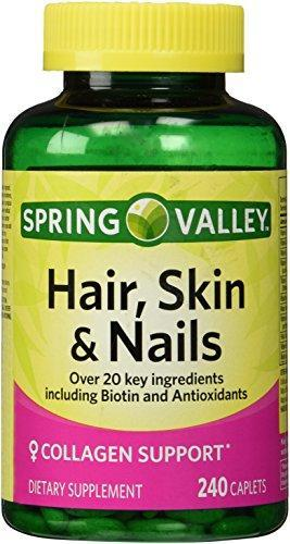 Spring Valley - Hair, Skin & Nails, Biotin-Collagen-Gelatin, 240 Caplets - Whole Choice