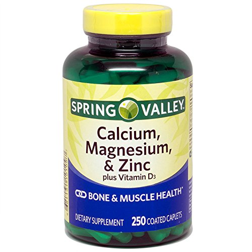 Spring Valley - Calcium Magnesium and Zinc, Plus Vitamin D3, 250 Coated Caplets - Whole Choice