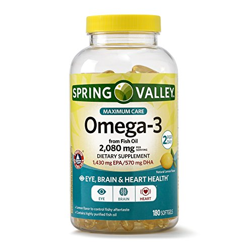Spring Valley Omega-3 from Fish Oil Maximum Care, 2080 mg Omega-3, 180 Softgels - Whole Choice