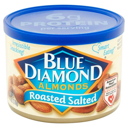 Blue Diamond Almonds Roasted Salted 6 oz. Canister - Whole Choice