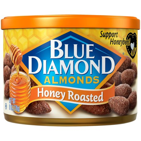 Blue Diamond Honey Roasted Almonds, 6 oz. - Whole Choice