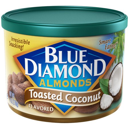 Blue Diamond Almonds Toasted Coconut Flavored, 6 oz. - Whole Choice