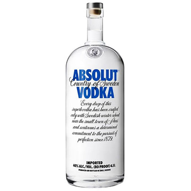 Asbolut Vodka 4.5L - Kent Street Cellars
