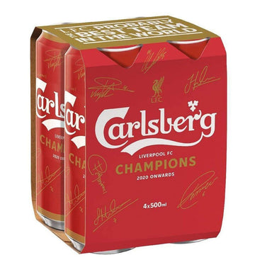 Carlsberg Lager Liverpool FC Cans 500ml  - Kent Street Cellars