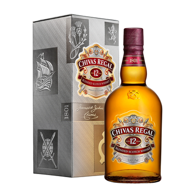 Chivas Regal 12 Year Old Blended Scotch Whisky 700ml - Kent Street Cellars