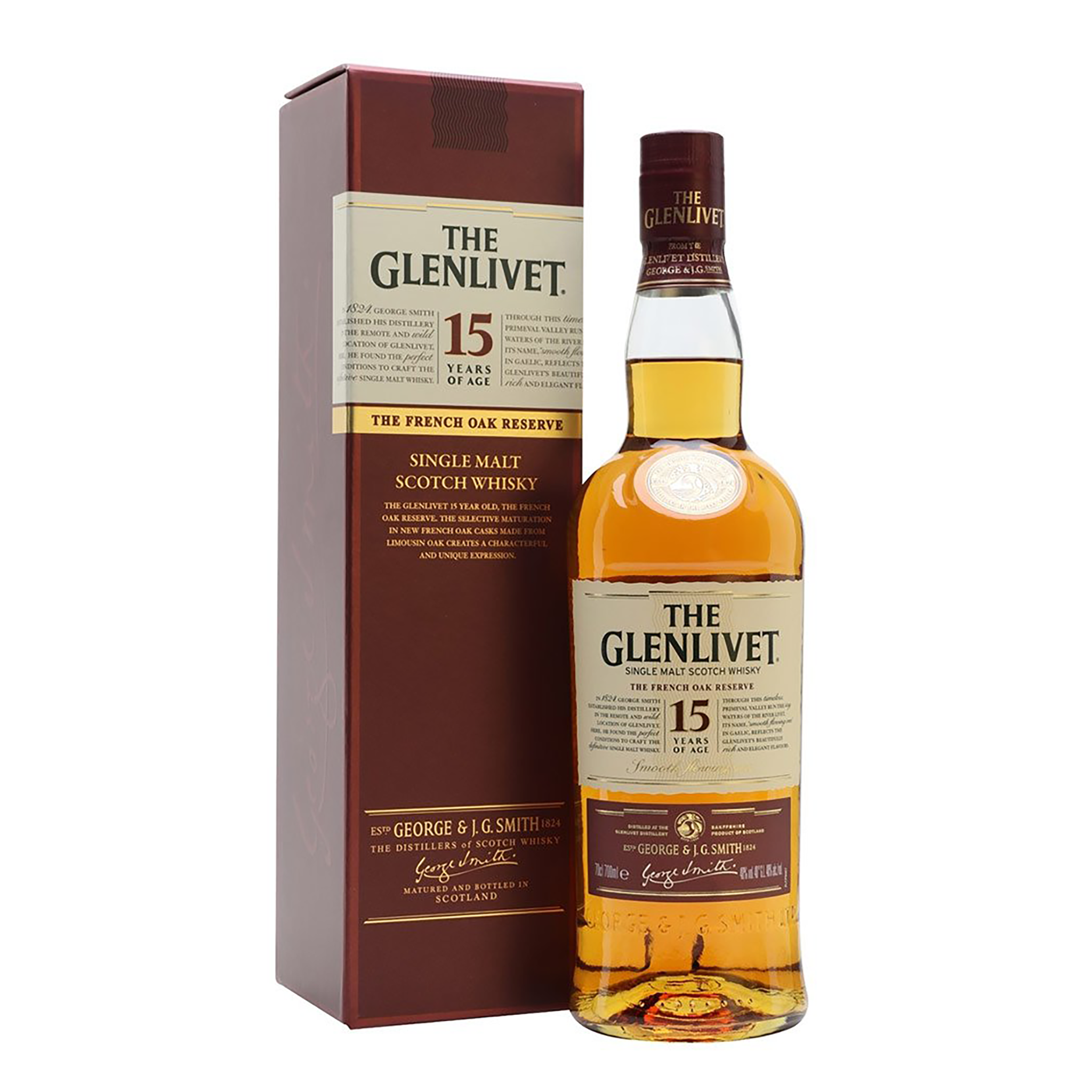 The Glenlivet 15 Year Old French Oak Reserve Single Malt Scotch Whisky 700ml