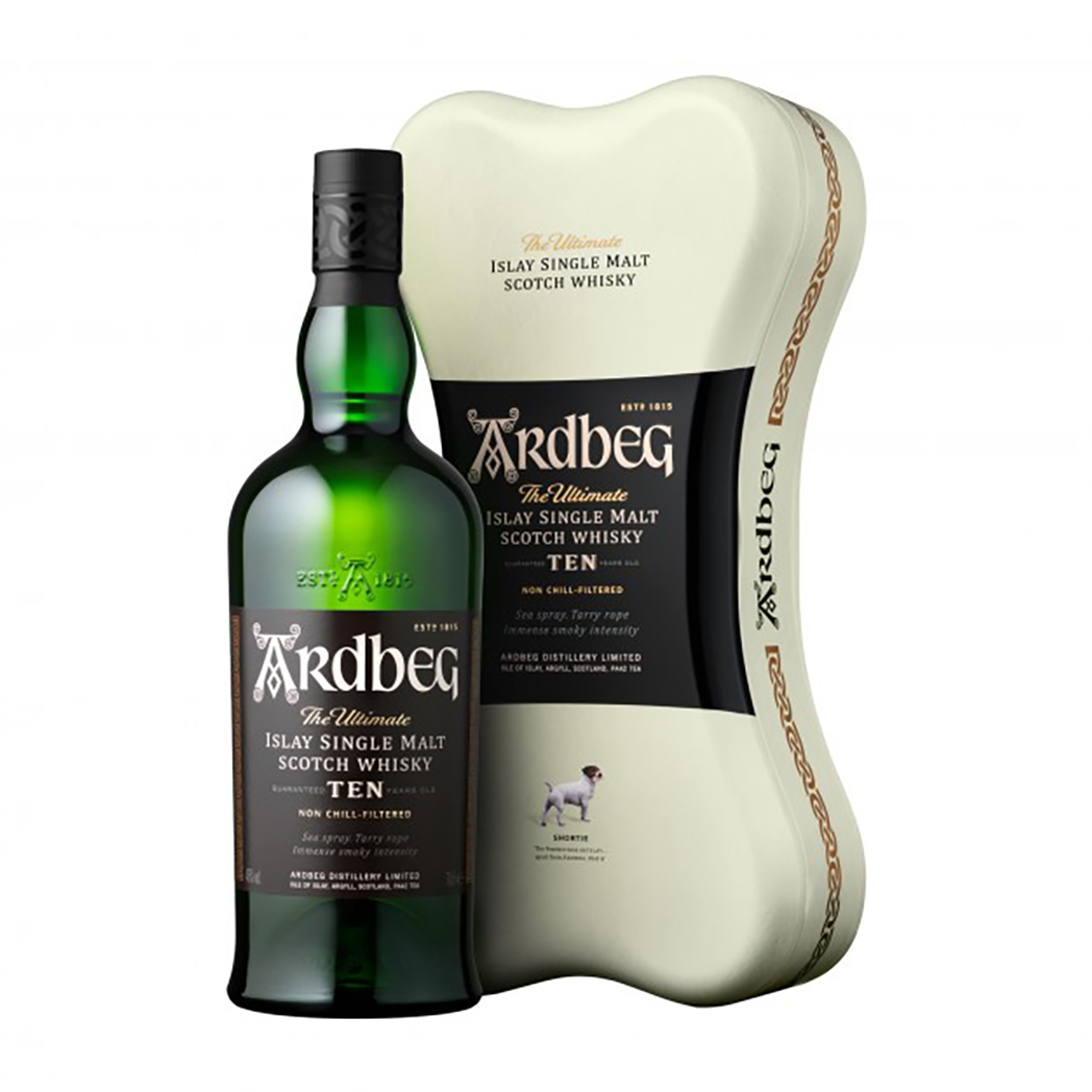Ardbeg 10 Year Old Scotch Whisky Ardbone Gift Pack 700ml