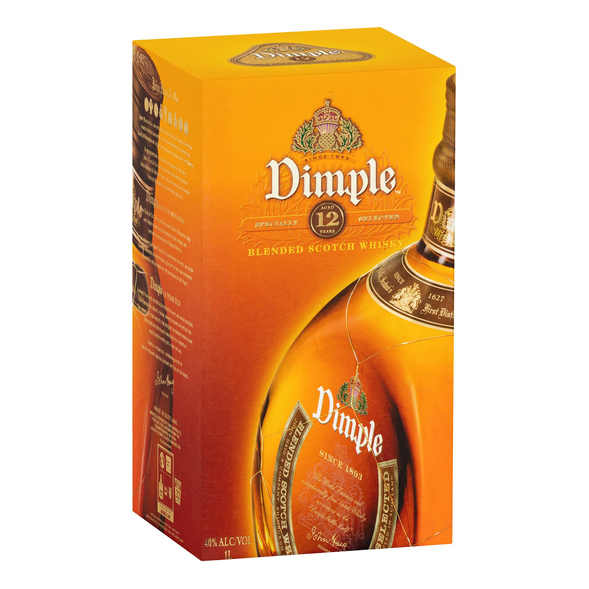 Dimple 12 Year Old Blended Scotch Whisky 700mL - Kent Street Cellars