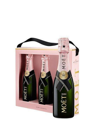 Moet Rose Mini 3 Pack - Kent Street Cellars