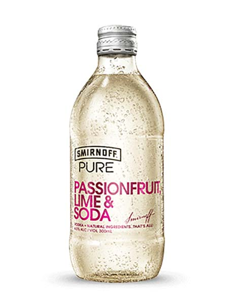 Smirnoff Pure Passionfruit, Lime & Soda (Case) - Kent Street Cellars