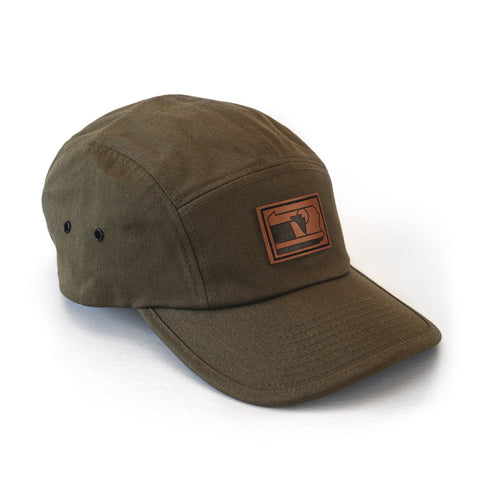 The Hemlock: Symbol of Pennsylvania Hat | Leather Patch Five Panel Camper Hat