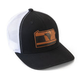 The Quehanna: Symbol of Pennsylvania Hat | Snapback Trucker Leather Patch Hat