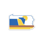 RepresentPA Pennsylvania Sticker | State-Shaped, Medium