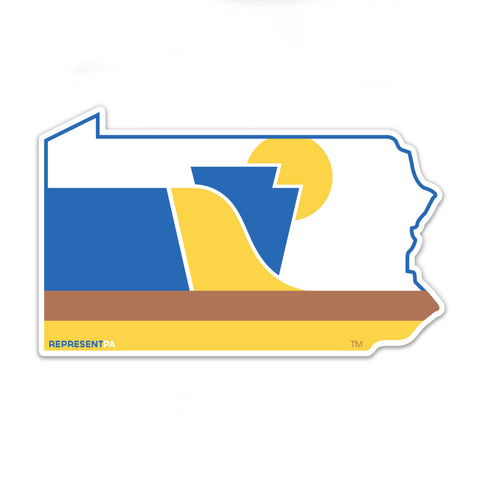 RepresentPA Pennsylvania Sticker | State-Shaped