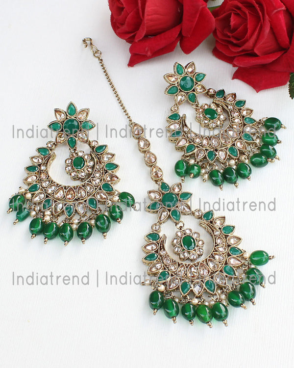 Aayushi Earrings & Tikka