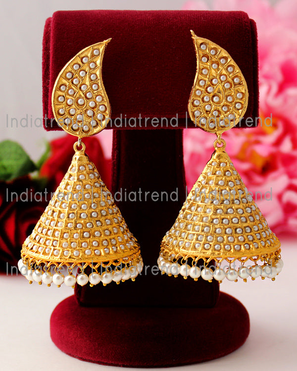 Swastika Jhumki Earrings