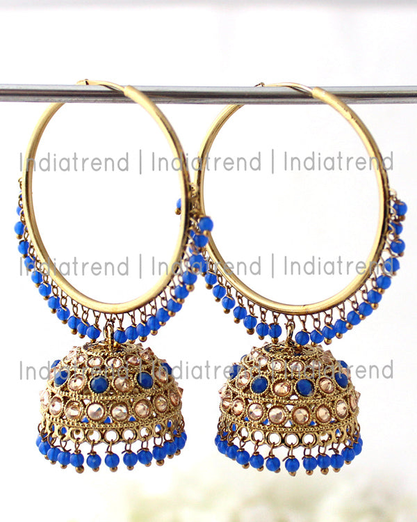 Antra Jhumki / Hoop Earrings (Golden)